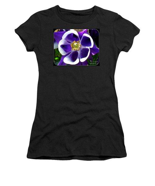 The Columbine Flower Women's T-Shirt (Junior Cut) by Patti Whitten