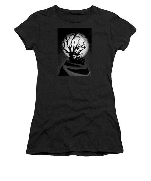 The Crooked Tree Women's T-Shirt (Junior Cut) by Salman Ravish
