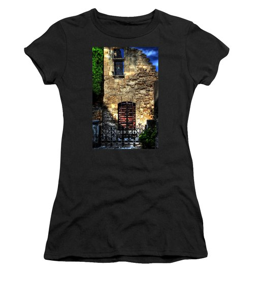 Women's T-Shirt (Junior Cut) featuring the photograph The Cypress And The Bell France by Tom Prendergast