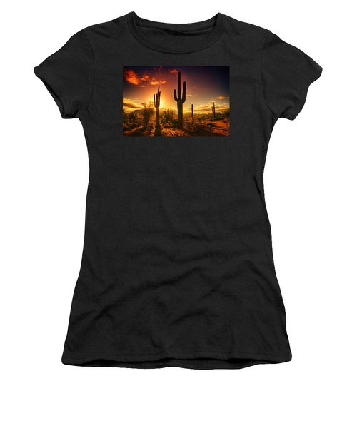 The Desert Awakens  Women's T-Shirt (Junior Cut) by Saija  Lehtonen