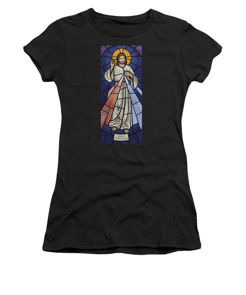 The Divine Mercy Women's T-Shirt (Athletic Fit)