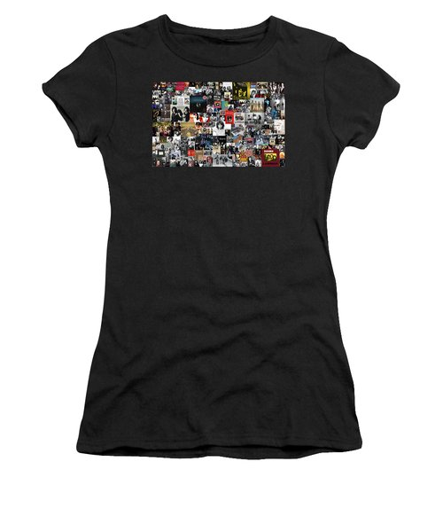 The Doors Collage Women's T-Shirt (Athletic Fit)
