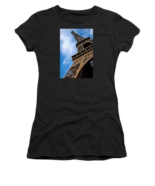 The Eiffel Tower From Below Women's T-Shirt (Athletic Fit)