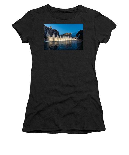 The Fabulous Fountains At Bellagio - Las Vegas Women's T-Shirt (Junior Cut) by Georgia Mizuleva