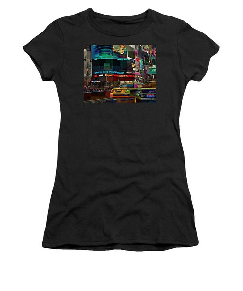 The Fluidity Of Light - Times Square Women's T-Shirt (Junior Cut) by Miriam Danar