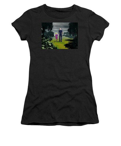 Women's T-Shirt (Junior Cut) featuring the digital art The Gift Of Being 'daddy' by John Alexander