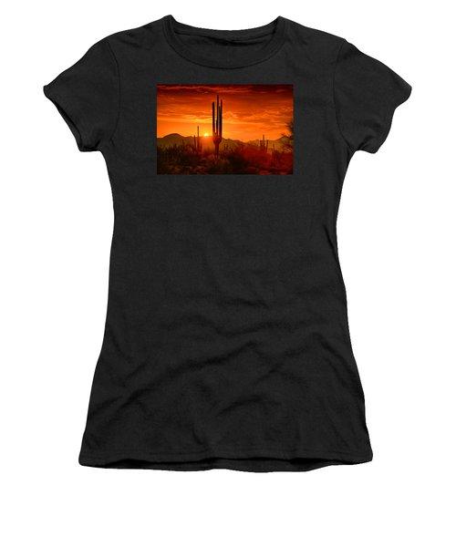 The Golden Southwest Skies  Women's T-Shirt