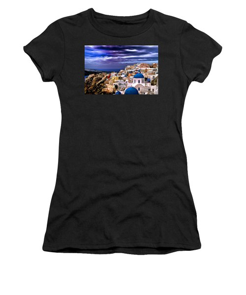 The Greek Isles Santorini Women's T-Shirt (Athletic Fit)
