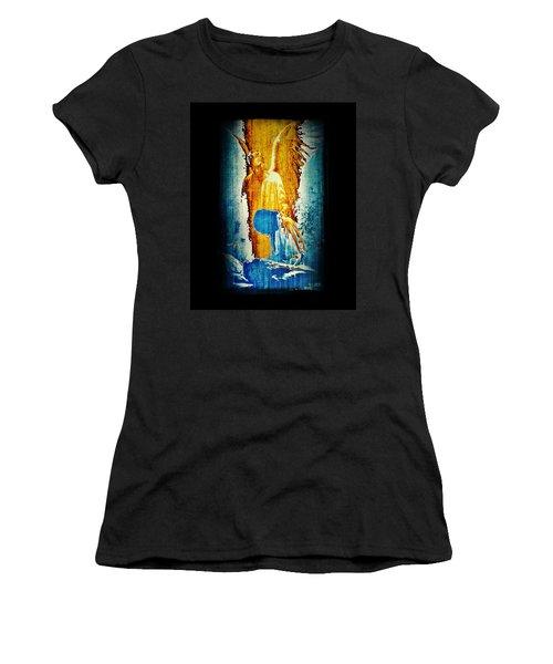 Women's T-Shirt (Junior Cut) featuring the digital art The Guardian Angel by Absinthe Art By Michelle LeAnn Scott