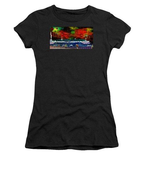 The Heavens Women's T-Shirt (Junior Cut) by Michael Rucker