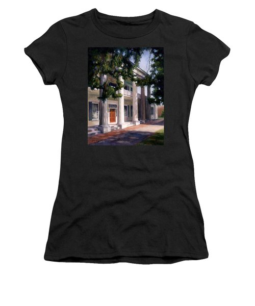 Women's T-Shirt (Junior Cut) featuring the painting The Hermitage by Janet King