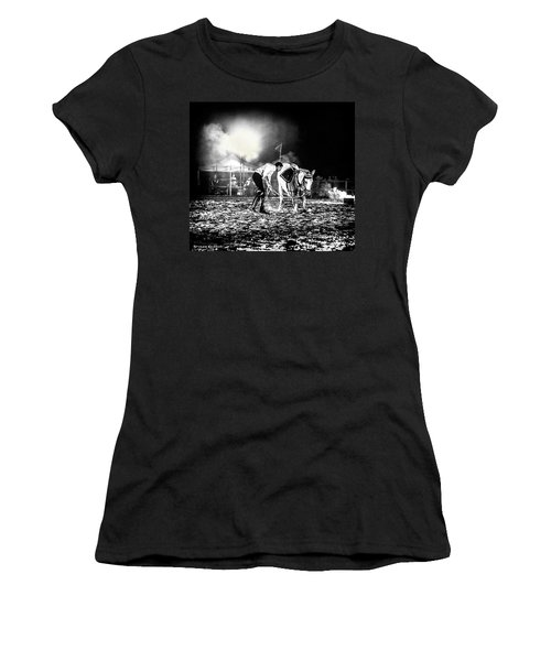 Women's T-Shirt featuring the photograph The Horse That Suffered  by Stwayne Keubrick