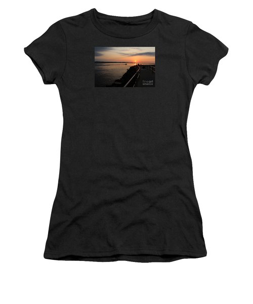 Women's T-Shirt (Junior Cut) featuring the photograph The Inlet by David Jackson