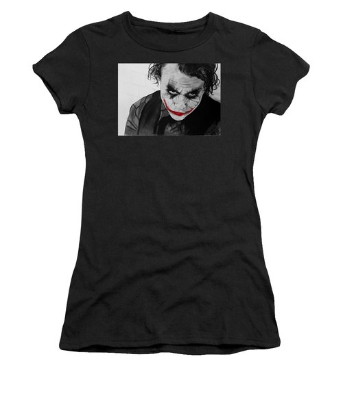 The Joker Women's T-Shirt (Junior Cut) by Robert Bateman