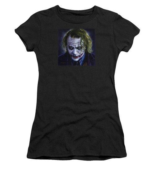 The Joker Women's T-Shirt (Junior Cut) by Tim  Scoggins