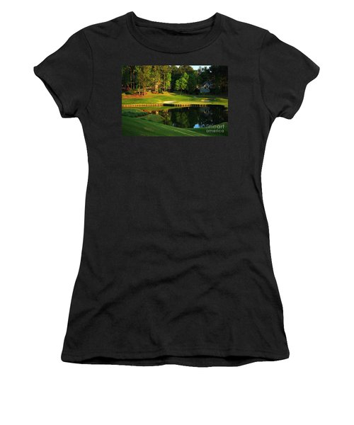 Golf At The Landing #3 In Reynolds Plantation On Lake Oconee Ga Women's T-Shirt (Athletic Fit)
