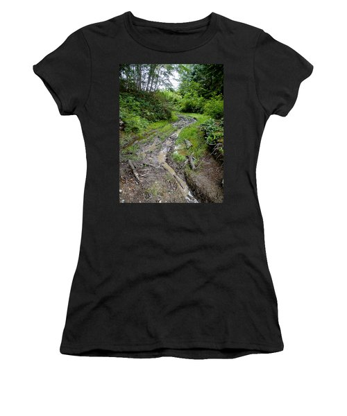 The Ledge Point Trail Women's T-Shirt (Athletic Fit)