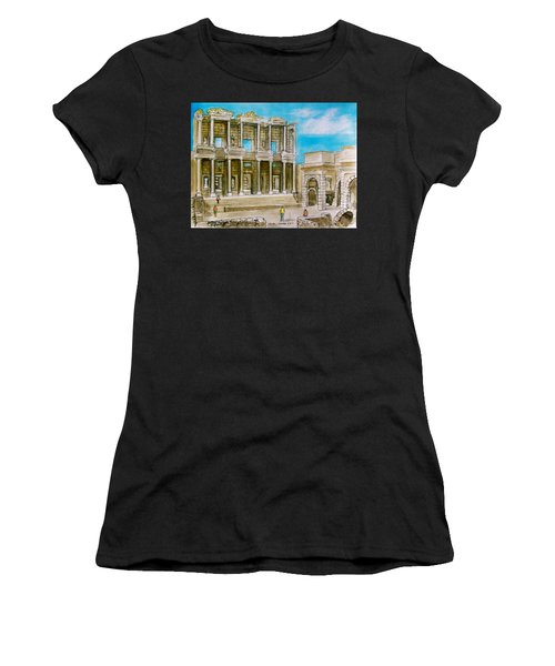 The Library At Ephesus Turkey Women's T-Shirt