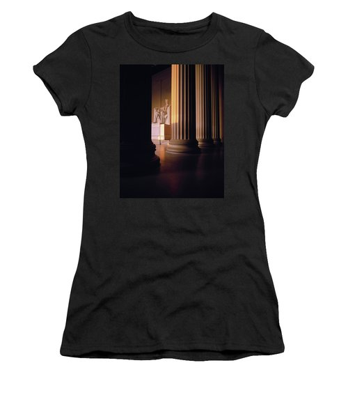 The Lincoln Memorial In The Morning Women's T-Shirt (Athletic Fit)