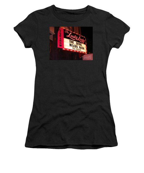 The Lusty Lady Women's T-Shirt (Junior Cut) by Kym Backland
