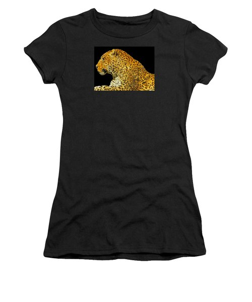 The Mighty Panthera Pardus Women's T-Shirt (Junior Cut) by Emmy Marie Vickers