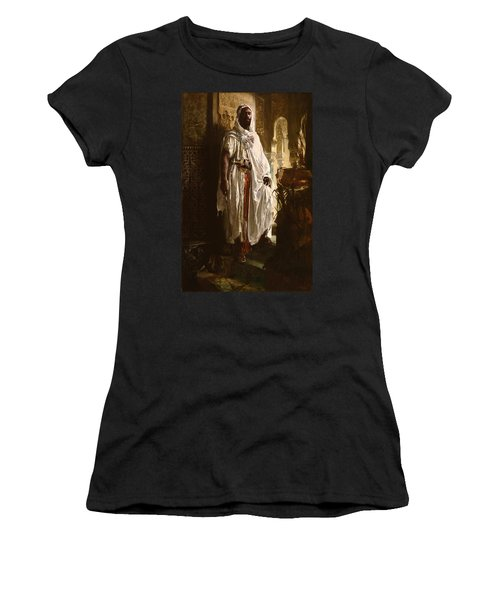 Women's T-Shirt featuring the painting The Moorish Chief by Eduard Charlemont