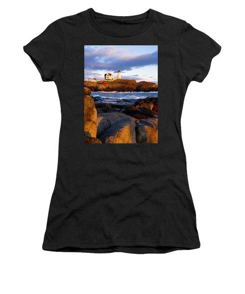 The Nubble Lighthouse Women's T-Shirt (Athletic Fit)