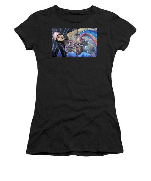 The Pearl Mermaid Women's T-Shirt (Junior Cut) by Colleen Kammerer