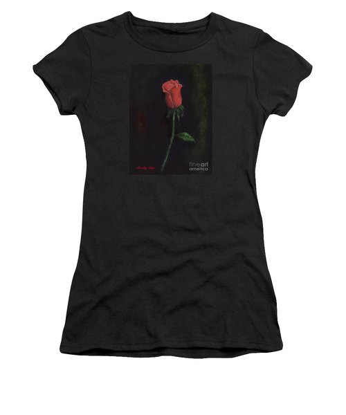 The Perfect Rose Women's T-Shirt (Junior Cut) by Becky Lupe