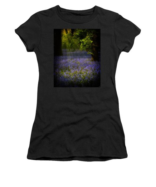 Women's T-Shirt (Junior Cut) featuring the photograph The Pixie's Bluebell Patch by Chris Lord