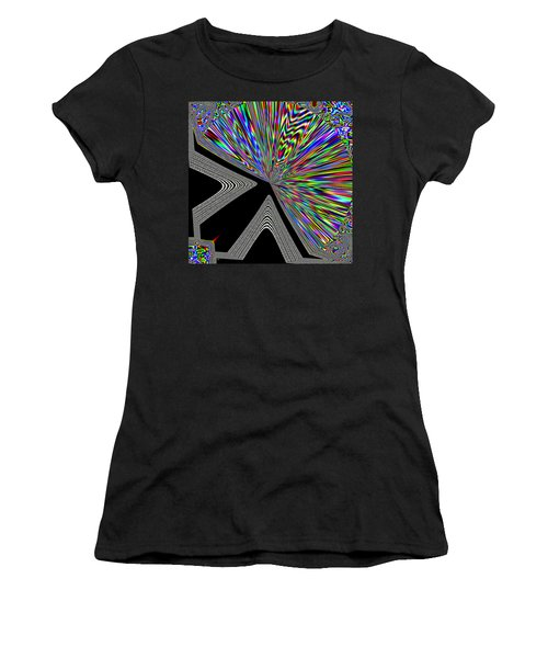 Women's T-Shirt (Athletic Fit) featuring the digital art The Point by Will Borden
