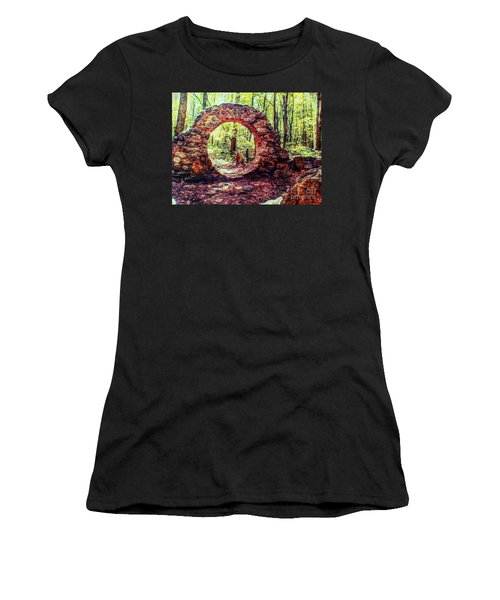 The Portal To Love Life Peace 1 Women's T-Shirt (Junior Cut) by Becky Lupe