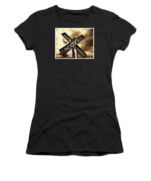 The Railroad Crossing Women's T-Shirt
