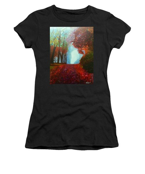 The Red Cathedral - A Journey Of Peace And Serenity Women's T-Shirt (Junior Cut) by Belinda Low