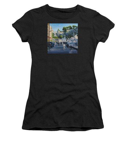The Rock Ahead Women's T-Shirt (Junior Cut) by Connie Schaertl