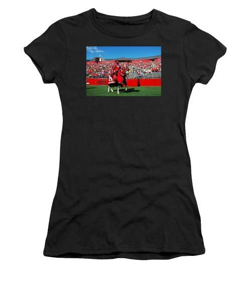 The Scarlet Knight And His Noble Steed Women's T-Shirt (Athletic Fit)
