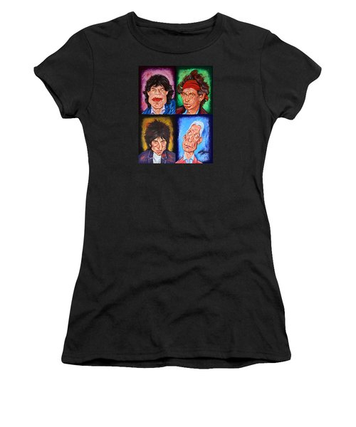 The Rolling Stones Women's T-Shirt (Athletic Fit)