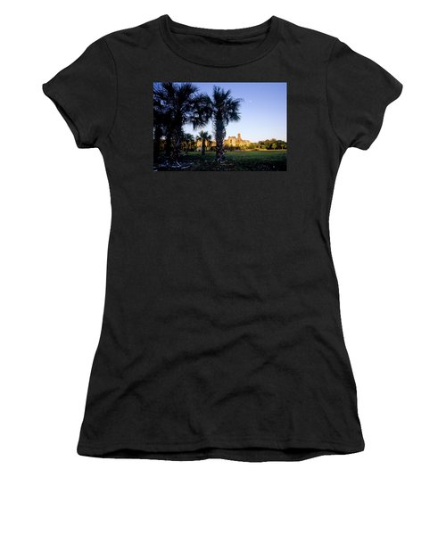 The Sun Sets On The Ruins Of Dungeness Women's T-Shirt