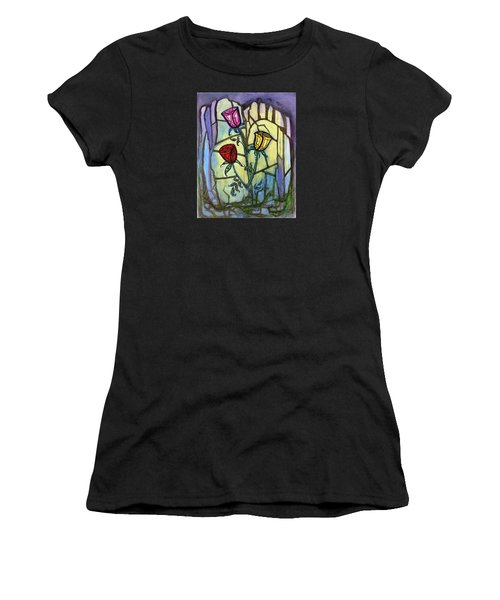 The Three Roses Women's T-Shirt (Athletic Fit)