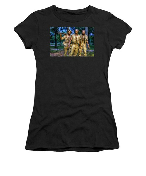 The Three Soldiers Facing The Wall Women's T-Shirt (Athletic Fit)