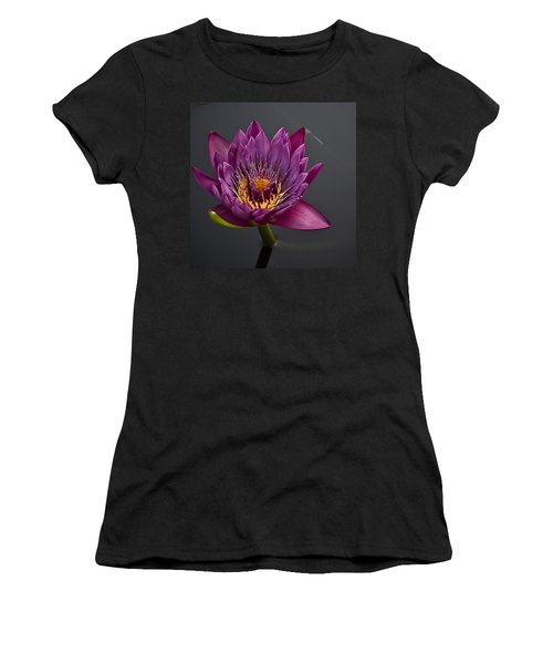 The Tiny Dragonfly On A Water Lily Women's T-Shirt