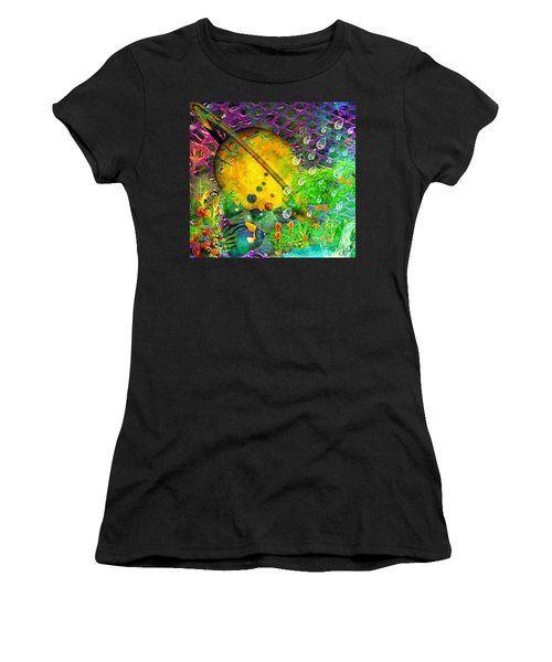 The View From A Moon Women's T-Shirt (Athletic Fit)