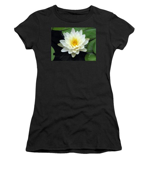 Women's T-Shirt (Junior Cut) featuring the photograph The Water Lilies Collection - 02 by Pamela Critchlow