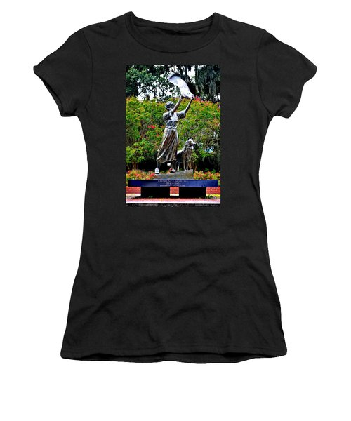 The Waving Girl Of Savannah Women's T-Shirt (Athletic Fit)