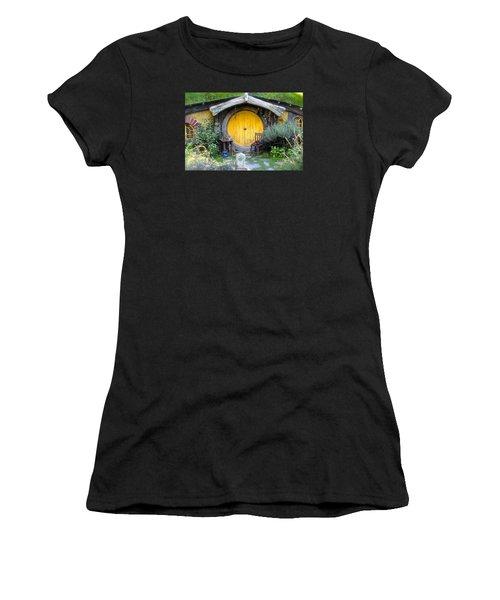Yellow Hobbit Door Women's T-Shirt (Athletic Fit)