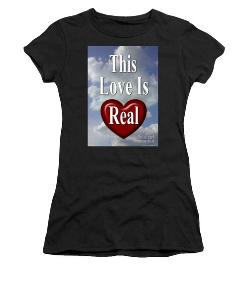 Women's T-Shirt featuring the photograph This Love Is Real by Peter Hutchinson
