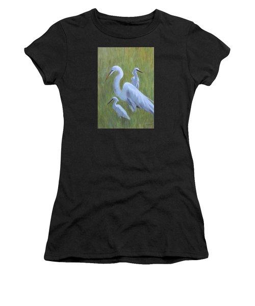 Three Egrets  Women's T-Shirt