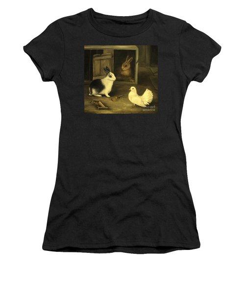 Three Friends Sharing A Moment Women's T-Shirt (Junior Cut) by Hazel Holland