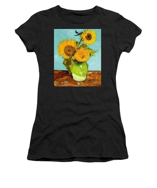 Three Sunflowers In A Vase Women's T-Shirt