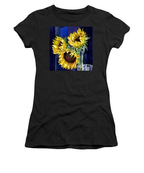 Three Sunny Flowers Women's T-Shirt